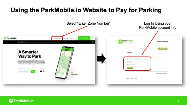 How to pay for parking using the ParkMobile website instead of the