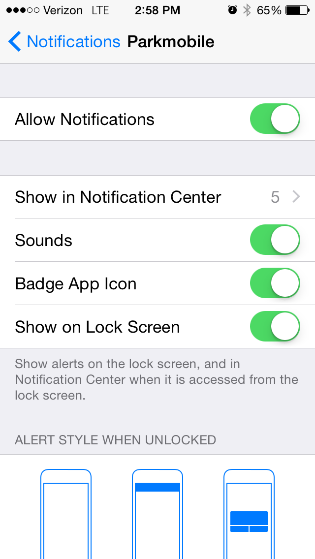 Push Notifications in iPhone app – ParkMobile Support
